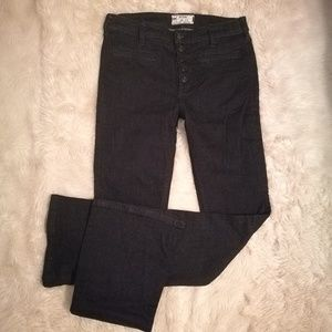 FREE PEOPLE Button Front Kaye Flare Jeans Size 27
